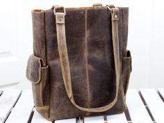 9b4aa80f54 Scaramanga Ladies Vintage Leather Classic Shopper Tote Bag Style 12052