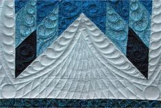closeup of lone star quilting - beautiful - be sure to check out the whole quilt, too