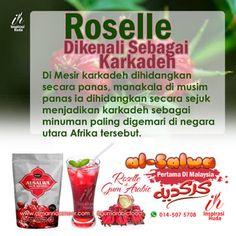 Rakyat Mesir menghidangkan karkadeh sebagai hibiscus tea atau teh roselle. Penyediaannya sentiasa menyegarkan samada dalam bentuk sejuk dan panas. Serbuk prebiotik semula jadi gum arabic Al-Salwa Ameer sajian berkhasiat anda.
