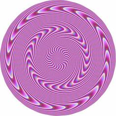 If you look at it long enough the swirly things look like they are moving.