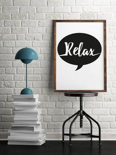 Affiche Relax on lâche la pression et on se détend un peu... #relaxation #posters
