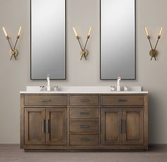 La Salle Metal-Wrapped Double Vanity  // Master Vanity