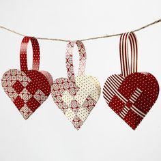 Pretty paper hearts (gevlochten hart)