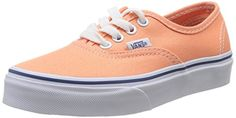 Vans Authentic Ox Youth US 1 Orange Sneakers * You can get additional details at the image link.