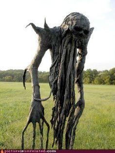 Creepy Cthulu skeleton tree? Stuff of nightmares.