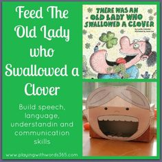 old lady face free printable, st. pat's old lady who swallowed a clover