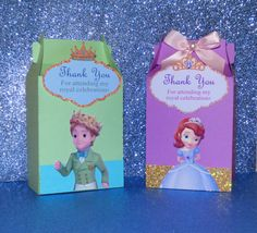 Sofia the First Favor Boxes Favor Bags by PishPoshPartique