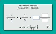 ExceLuisABN Matemática y Excel: Multiplica fracciones mixtas, con ThatQuiz.