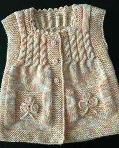 Baby Knitting Patterns, Knitting Designs, Knitting Ideas, Crochet Patterns, Baby Outfits, Kids Outfits, Crochet Baby, Knit Crochet, Girls Knitted Dress