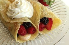 Fruit filled crepes with whipped cream Breakfast Crepes - Recipe - girl. Inspired.