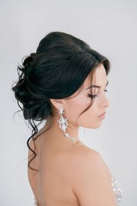 Wedding Hairstyle: Loose Curly Updo (without the bump on top)