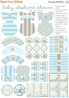All information about Elephant Baby Shower Printables. Pictures of Elephant Baby Shower Printables and many more. Idee Baby Shower, Shower Box, Baby Shower Yellow, Shower Party, Baby Shower Parties, Baby Boy Shower, Shower Ideas, Elephant Baby Showers, Baby Elephant