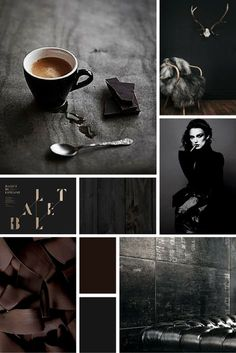 Midweek Moodboard: 'Black Coffee' (deep, rich chocolate brown and grey colour palette for your design inspiration) inspiration design design inspiration web design graphic design web design inspiration interior design best logo Alphabet Design, Design Web, 2017 Design, Graphic Design, Beste Logos, Color Bordo, Black Color Palette, Color Black, Plakat Design