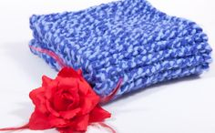 knitted purple - lila scarf by artdcbydc on Etsy