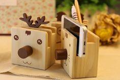 Cartoon Wooden Pen Holder With Eyeglasses Holder Glass Holders, Pen Holders, Wooden Pen Holder, Router Projects, Eyeglass Holder, Wood Resin, Wood Creations, Laser Cut Wood, Wood Art