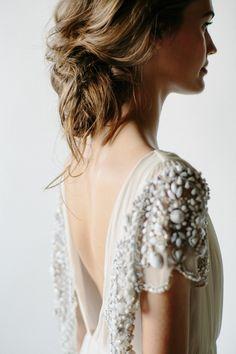 Whimsical Backless Wedding Dress | Wedding Ideas | OnceWed.com
