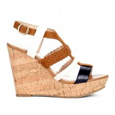 Platform cork wedge sandal