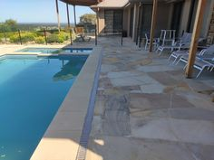Aussietecture provides the best crazy paving, tiling, walling & landscaping. Sandstone from local quarries. Swimming Pool Designs, Swimming Pools, Sandstone Pavers, Pool Pavers, Crazy Paving, Stone Supplier, Landscaping, Tiles, Flooring