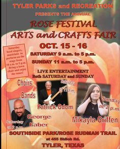 Excited to be doing a show in my home town this weekend. Can't wait to see family a friends.  October 15-16 Southside park/Rose Rudman  trail. See you soon