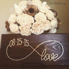 Custom date infinite love string art sign by my2heARTstrings on Etsy