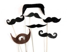 Moustaches! Make your own #DIY #PhotoBooth props with #TheCraftyHen. #henparty #CraftyHen