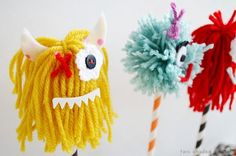 DIY Monster Cake Toppers