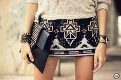 FashionCoolture - look du jour iclothing Antix sequins Asos studded Kafé Carrie Bradshaw, Fashion Beauty, Fashion Looks, Womens Fashion, Fashion Fashion, Winter Fashion, Vintage Fashion, Fashion Outfits, Looks Style