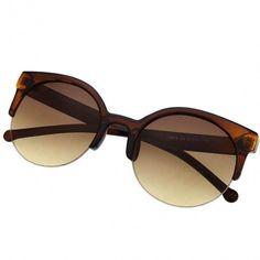 5f1c5b0a869a Fashion Unisex Retro Designer Super Round Circle Cat Eye Semi-Rimless  Sunglasses Glasses Goggles