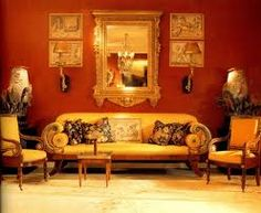 yellow walls with red accents - Google Search