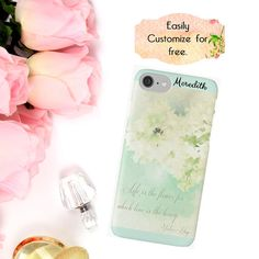 White Flowers iPhone Case Phone Wallet Spring Floral iPhone