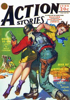 Action Stories [1942-06] cover by Alan Anderson