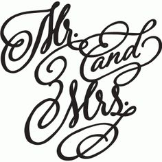 Silhouette Online Store - View Design #61148: mr and mrs decorative script