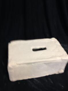 Kleenex box bisque