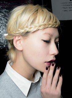 Braids For Short Hair - braided bangs hairstyle
