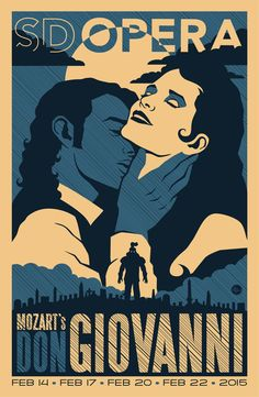 Mozart's Don Giovanni poster from the San Diego Opera