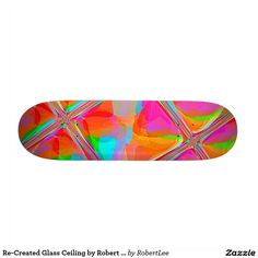Re-Created Glass Ceiling by Robert S. Lee Skate Board Deck #Robert #S. #Lee #skateboard #board #decks #skater #design #colors #customizable #re-created