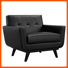 Modway Engage Leather Armchair, Black - Improve your home (*Amazon Partner-Link)