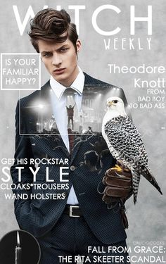 witch weekly potter harry fan covers modern magazine male hogwarts mtv slytherin memes goes theodore awesome nott draco bird stunning