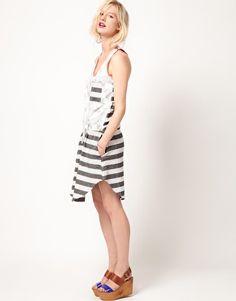 Enlarge ASOS Africa Dress With Zebra Stripe Print