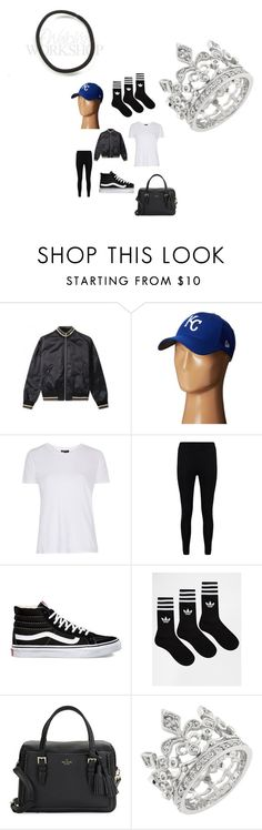 """""""Untitled #3013"""" by fashionicon67 ❤ liked on Polyvore featuring Maison Margiela, New Era, Topshop, Boohoo, Vans, adidas and Kate Spade"""