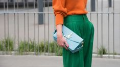 Freshen up your wardrobe this season and shop for a spring handbag that brightens your day. From warm colors to cool shapes, Jean Patou, Spring Handbags, Cool Shapes, Wide Leg Pants, Pretty People, Trends, Style Guides, Marc Jacobs, Blazer