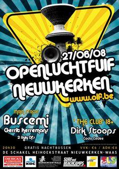 Openluchtfuif Nieuwkerken 2008 Grafic Art, Buscemi, Art Pieces, My Favorite Things, Artworks, Art Work