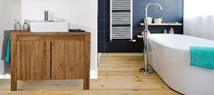 Du bois noble dans votre salle de bain, c'est ce que propose la collection Aqua entièrement réalisée en Teck. Optez pour un style naturel chic #Zago #Meuble #Bois #Naturel http://www.zago-store.com/collections/aqua.html