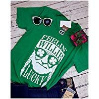 041bf3a8 Feelin' Willie Lucky Irish Shirt Women's Funny Graphic Tee Shamrock ST. Patrick's  Day T