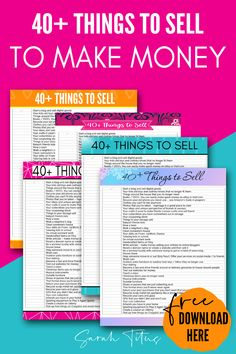Do you NEED to earn extra cash at home quickly? Here are my tips and ideas on 40 things to sell right now to make money extra money fast! These are super simple ways to earn money online and even develop a business on the side! Ways To Earn Money, Earn Money Online, Make More Money, Make Money From Home, Money Tips, Earn Extra Cash, Extra Money, Blockchain, What To Sell