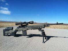 JAE-100 G3 on an M1A National Match //