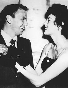 francisalbertsinatra: Frank Sinatra and Ava Gardner at a rally for Adlai Stevenson, 1952