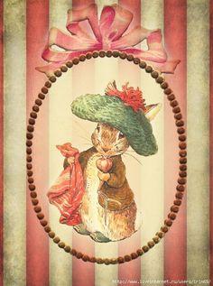 Beatrix Potter, Vintage Pictures, Vintage Images, Vintage Cards, Vintage Postcards, Peter Rabbit Nursery, Peter Rabbit And Friends, Motifs Animal, Decoupage Vintage