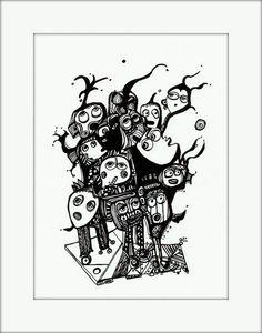 HäkelBild VII von Etelka Kovacs-Koller - mad for art auf DaWanda.com Illustration, Artworks, Mad, Etsy, Drawing S, Illustrations, Art Pieces