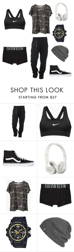 """stud lesbian"" by nataliehaw0865 on Polyvore featuring Boris Bidjan Saberi, NIKE, Vans, Beats by Dr. Dre, Ragdoll, Calvin Klein Underwear, G-Shock and Outdoor Research"